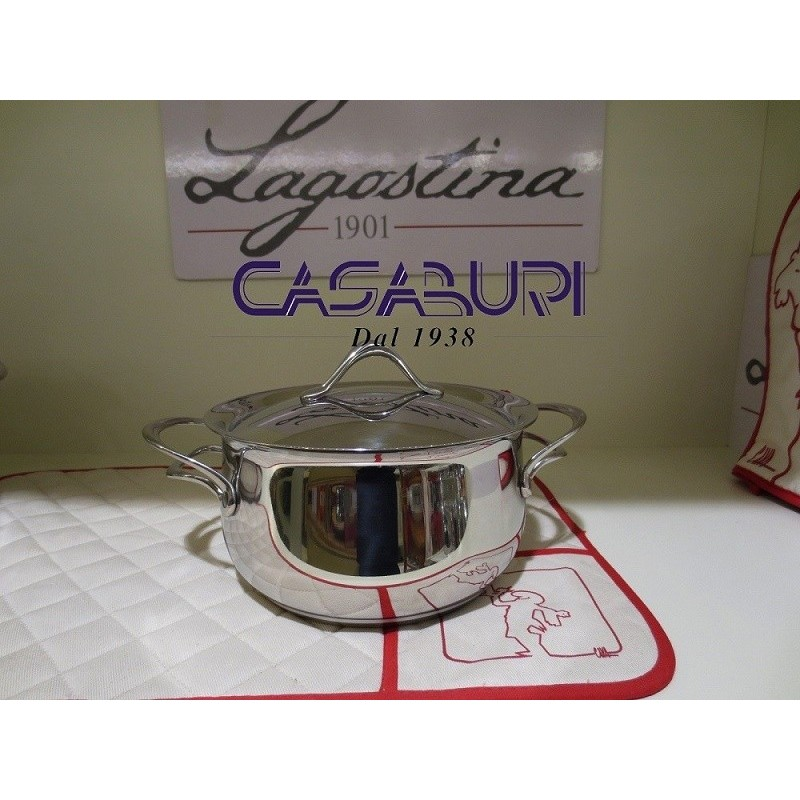 Lagostina Melodia Casseruola fonda con coperchio 18 cm