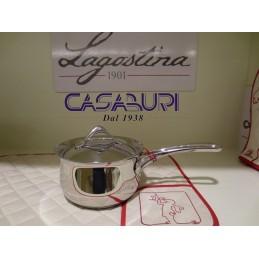 Lagostina Melodia Casseruola fonda a manico lungo con coperchio 14 cm