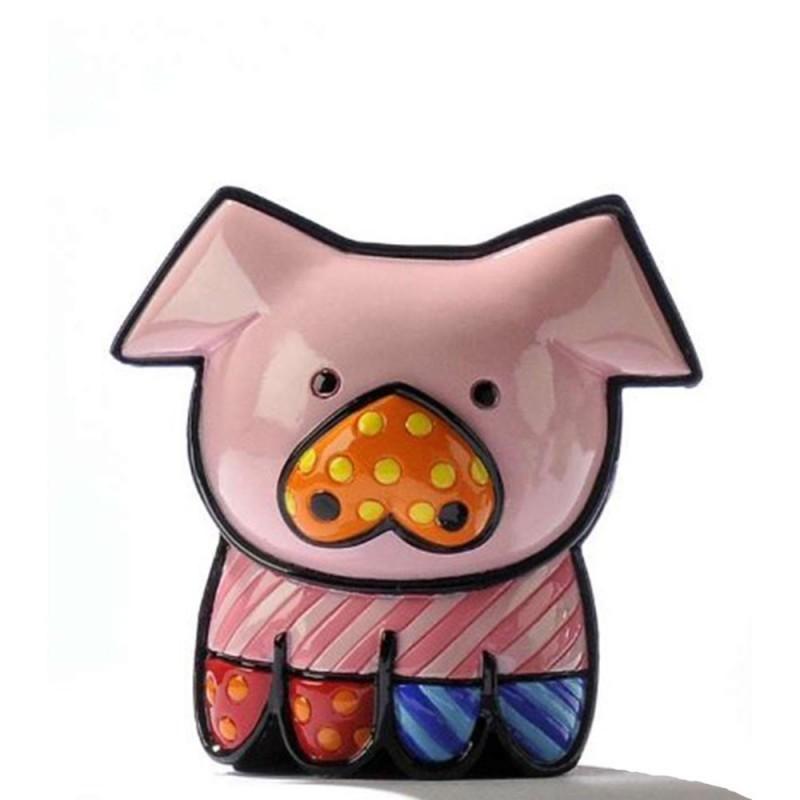 Romero Britto Figurina Mini Maialino 331386