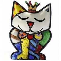 Romero Britto Figurina Mini Re Gatto 331390