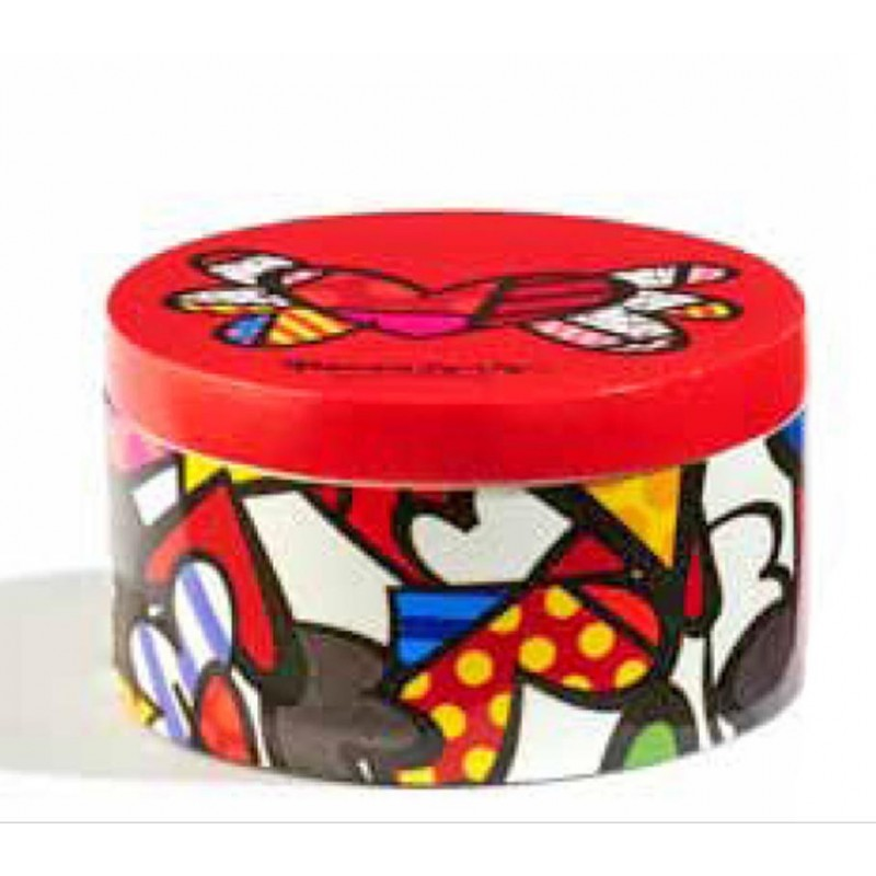 Romero Britto Scatolina rotonda Flying Heart 334312