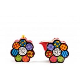 Romero Britto Lattiera e Zuccheriera Flower 334401