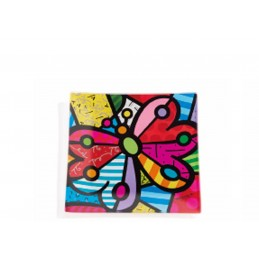 Romero Britto Vassoietto Quadrato in vetro Butterfly 334475