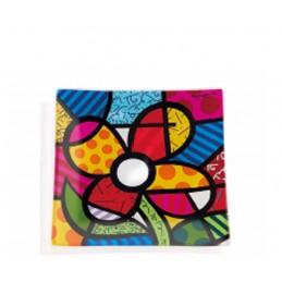 Romero Britto Vassoietto Quadrato in vetro Flower 334476