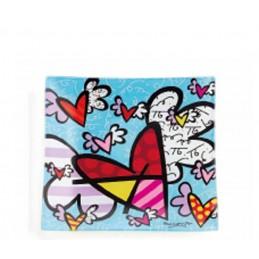 Romero Britto Vassoietto Quadrato in vetro Flying Heart 334477