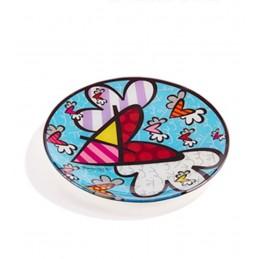 Romero Britto Vassoio rotondo in vetro Flying Heart 334480