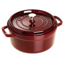 Staub Cocotte Tonda 22 cm Rosso Granato
