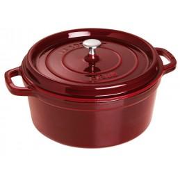 Staub Cocotte Tonda 24 cm Rosso Granato