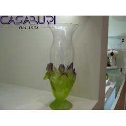 Daum Crystal Iris Vaso in Cristallo 34 cm 03537