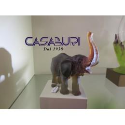 Daum Crystal Elefante Piccolo Ambra-Verde 14,5 cm 03238-1