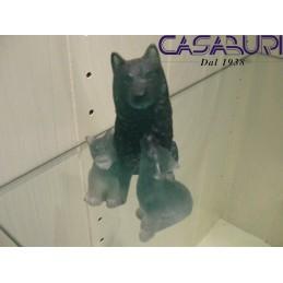 Daum Crystal Cane Husky con Cuccioli in Cristallo 065030