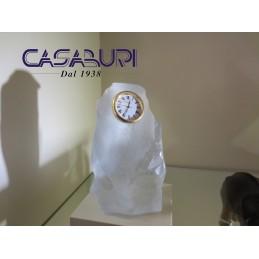 Daum Crystal Orologio in Cristallo Bianco Pâte de verre