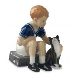 Royal Copenhagen Jens con gatto mini 5021086