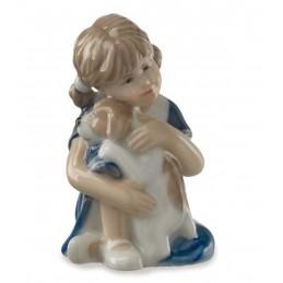 Royal Copenhagen Statuina Elsa con Cagnolino Mini 5021087