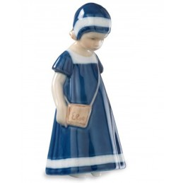 Royal Copenhagen Statuina Elsa con Vestito Blu Mini 5021083