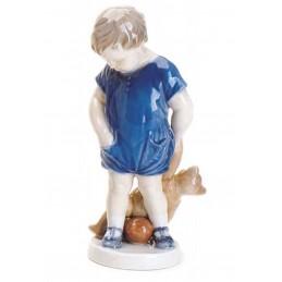 Royal Copenhagen Statuina Bimbo con Orsetto Mini 5021081