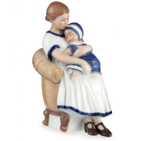 Royal Copenhagen Statuina Elsa con Mamma in Poltrona 1021670