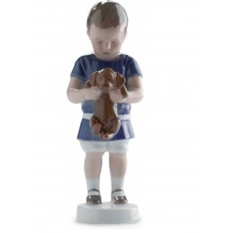 Royal Copenhagen Statuina Ole Bimbo con Cagnolino 1021422