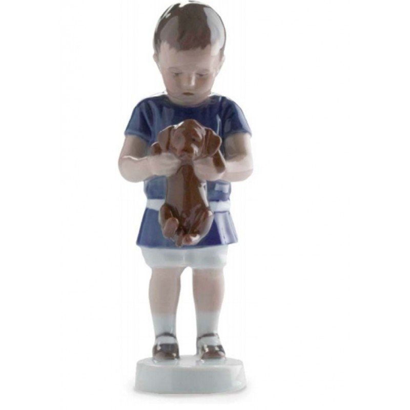 Royal Copenhagen Ole bimbo con cagnolino 1021422