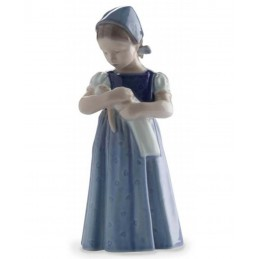 Royal Copenhagen Statuina Mary con Vestito Blu 1023561