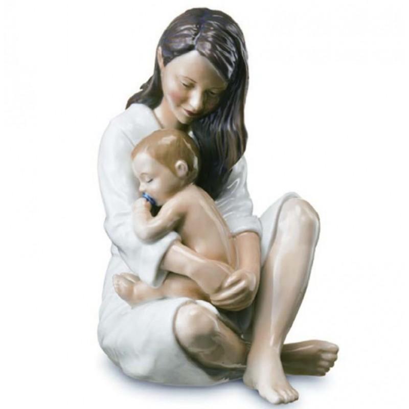 Royal Copenhagen Mamma con bimbo che dorme 1249541