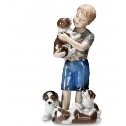 Royal Copenhagen Statuina Bimbo con Cuccioli 1249362