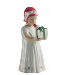 Royal Copenhagen Statuina Elsa Bianca con Regalo Mini 5021091