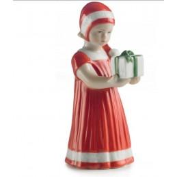 Royal Copenhagen Statuina Elsa Rossa con Regalo Mini 5021090