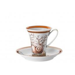 Versace Les Étoiles de la Mer Tazza Caffè Espresso con piattino