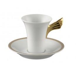 Versace Medaillon Meandre D'Or Tazza Caffè Espresso con Piattino