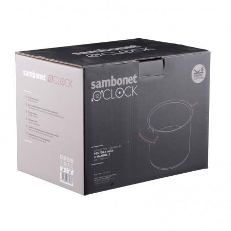 Sambonet 12'O'Clock Grey Pentola alta 24 cm con coperchio