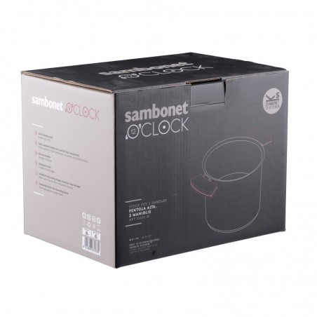 Sambonet 12'O'Clock Red Pentola alta 16 cm con coperchio
