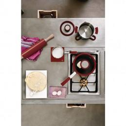 Sambonet 12'O'Clock Red Casseruola alta 1 manico 12 cm con coperchio