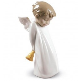 Nao Statuina Angelo Suonatore di Campana-Shy Little Angel 02001889