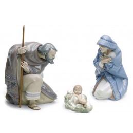 Lladrò Silent Night Nativity Set Figurine 01007804
