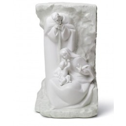 Lladrò Statua Sacra Famiglia Murale-Blessed Family Mural 01008514