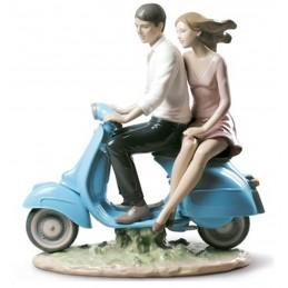 Lladrò Statua A Spasso con Te-Riding with You 01009231