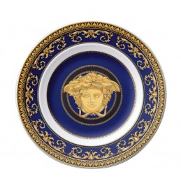 Versace Ikarus Medusa Blue Piatto Piano 18 cm