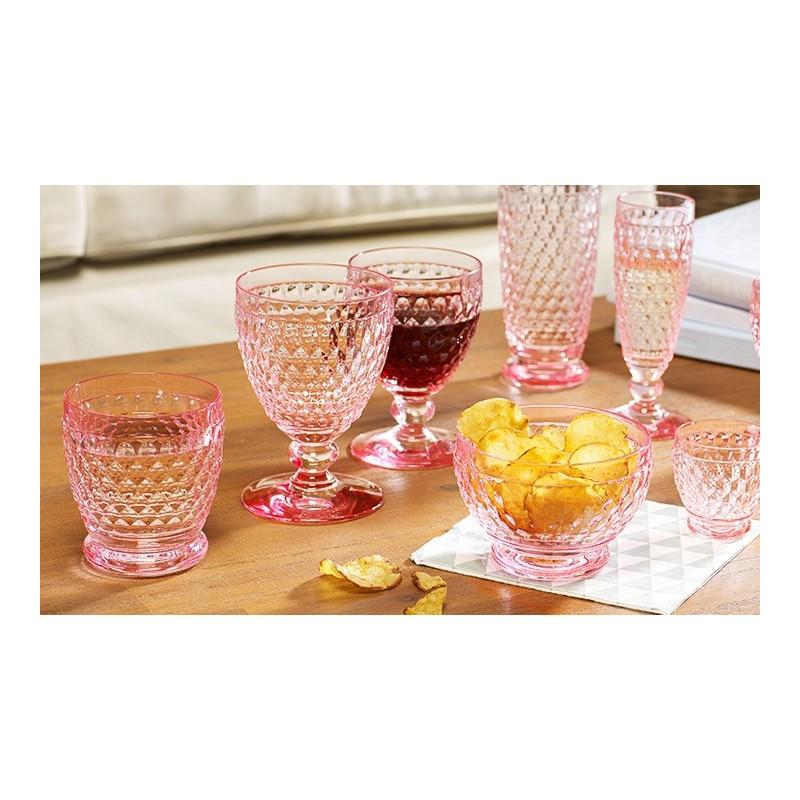 Villeroy & Boch Boston Coloured Servizio Bicchieri Rosa 36 Pz