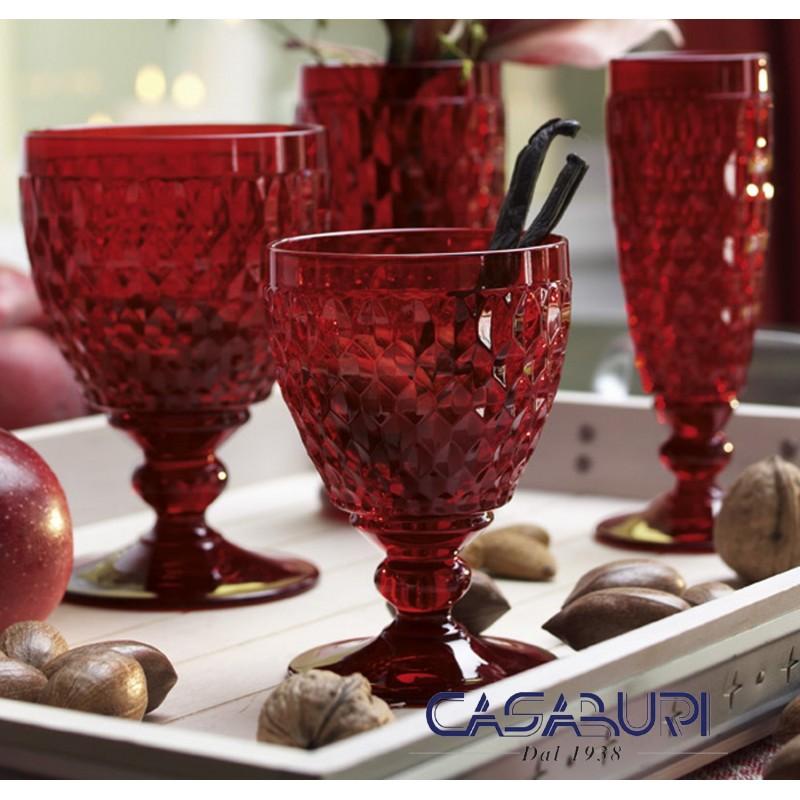 Villeroy & Boch Boston Coloured Servizio Bicchieri Rosso 36 Pz