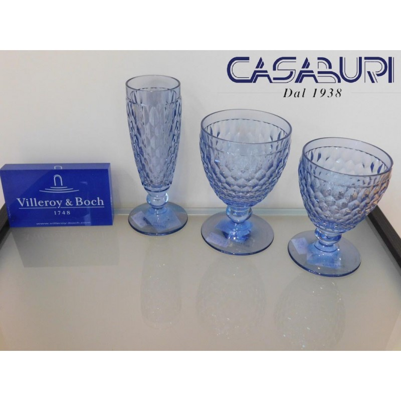 Villeroy & Boch Boston Coloured Servizio Bicchieri Blu 18 Pz