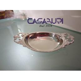 Greggio Argenti Piattino Ovale Perlinato Silver Plated