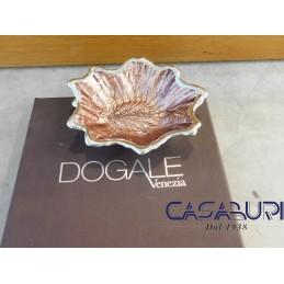 Dogale Venezia Foglia Acero Rosa Antico Vetro Decorato a Mano