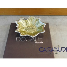 Dogale Venezia Foglia Acero Oro Vetro Decorato a Mano