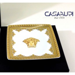 Versace Baroque Bianco Coppetta Quadrata 12 cm