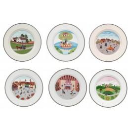 Villeroy & Boch Design Naif Set 6 Piatti Dessert 21 cm Motivi Assortiti