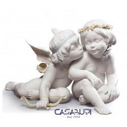 Lladrò Statuetta Eros and Psyche 01009128