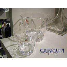 Colle Cristalleria Set 6 Bicchieri Liquore + Bottiglia Liquore
