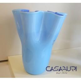 Nason Vaso Fazzoletto in Vetro di Murano H 22 cm
