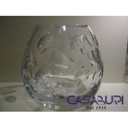 Christofle Cluny Vaso Medio Cristallo H 19 cm 7904300